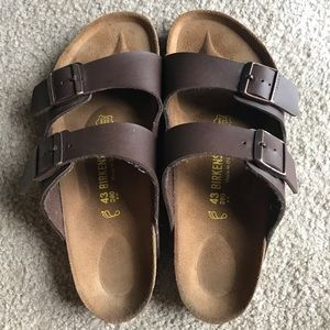 New Men Brown Arizona Birkenstock Sandal Size 10